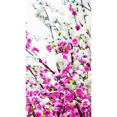 Záves Flowers Pink, 140 x 245 cm