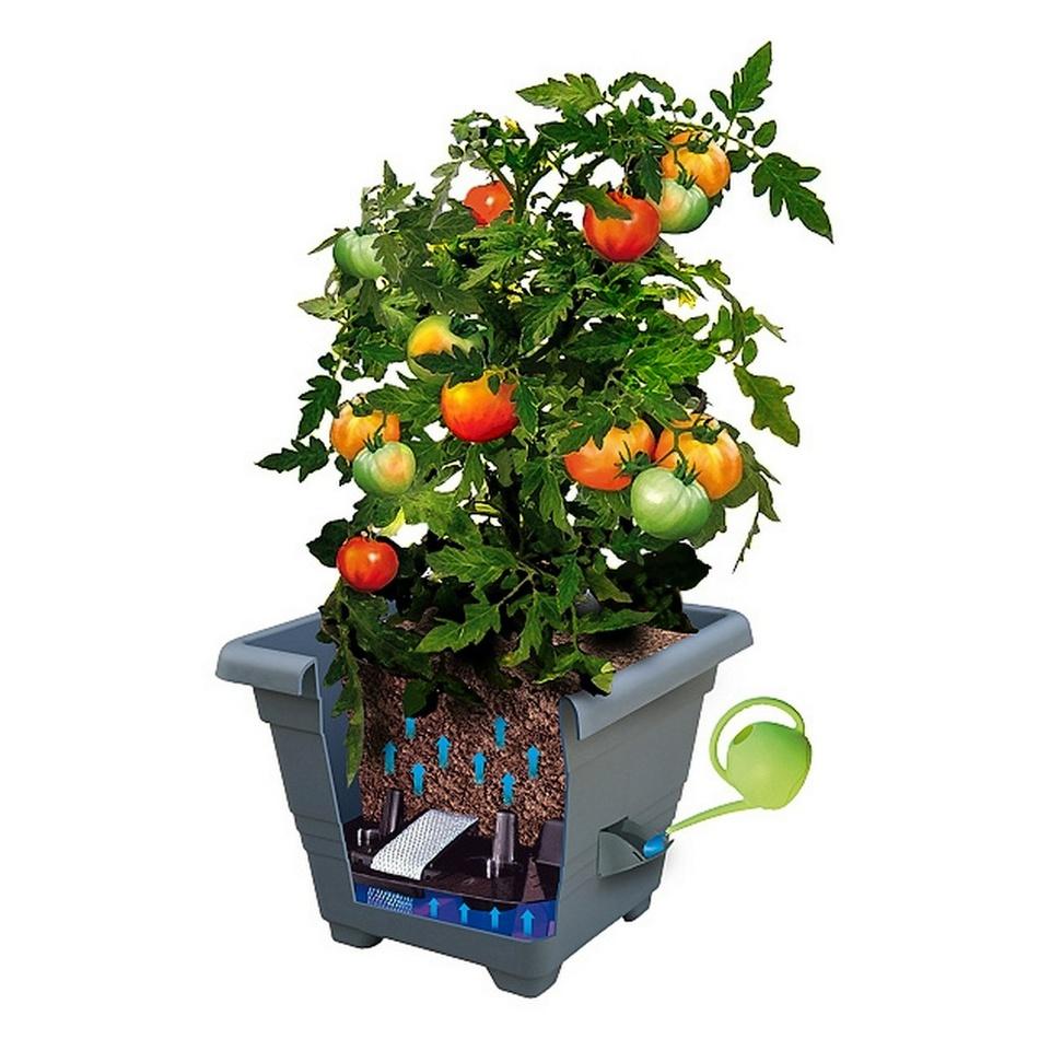 Produktové foto Samozavlažovací květináč BERGAMOT, terakota, Plastia, 40 x 40 cm