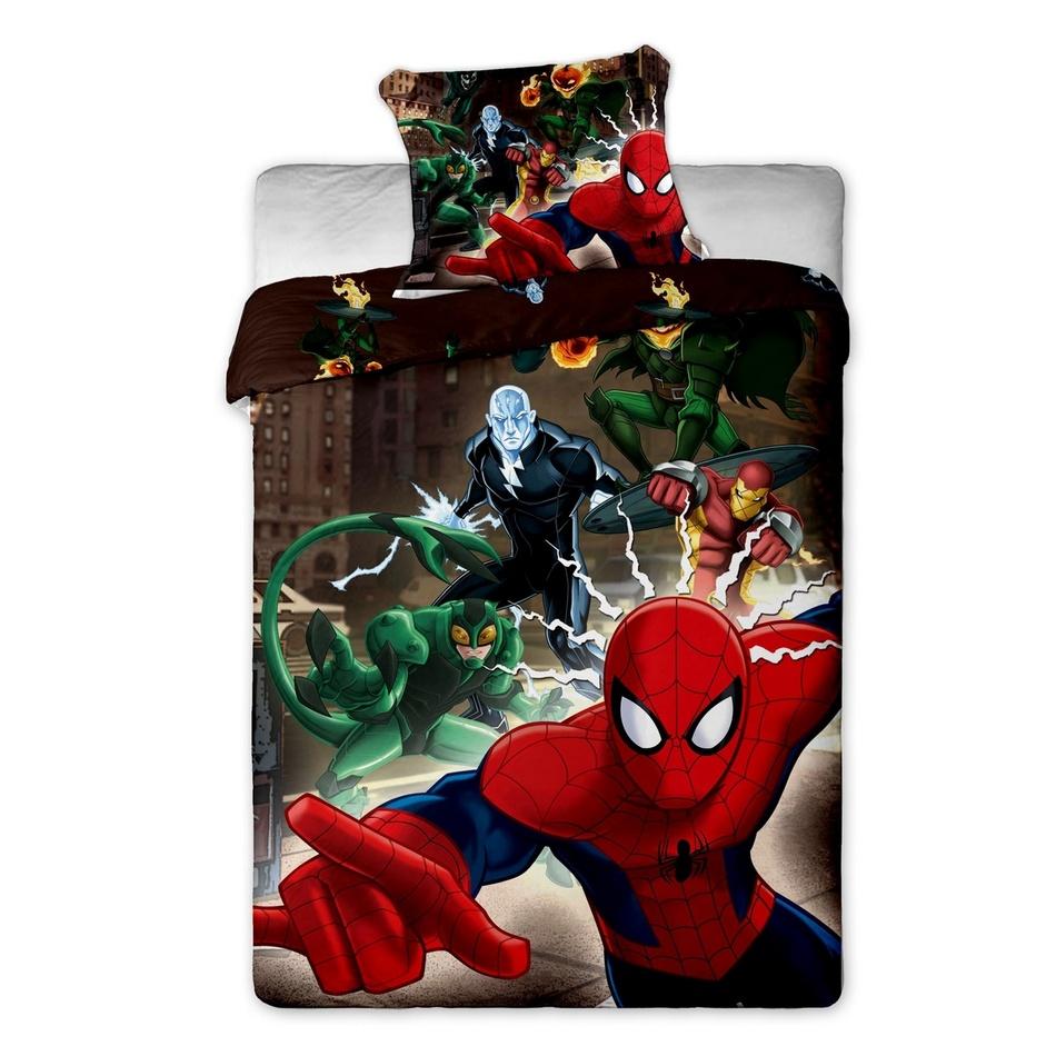 Dziecięca pościel bawełniana Spiderman brown 2015, 140 x 200 cm, 70 x 90 cm
