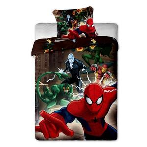 Dětské bavlněné povlečení Spiderman brown 2015, 140 x 200 cm, 70 x 90 cm