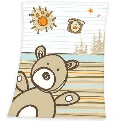 Dětská deka Luis Bear, 75 x 100 cm