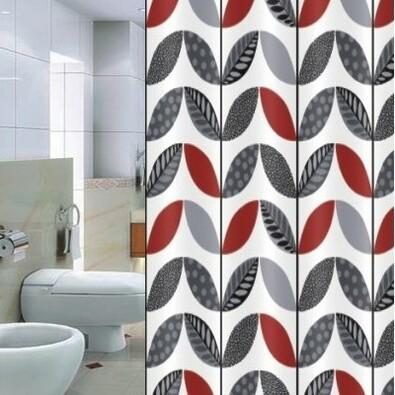 Sprchový závěs Pesaro Listy, 180 x 180 cm