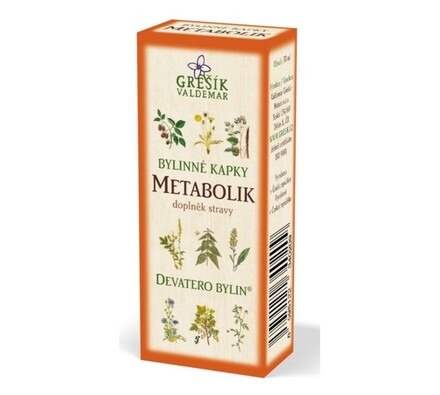 Bylinné kapky Grešík Metabolik 50 ml