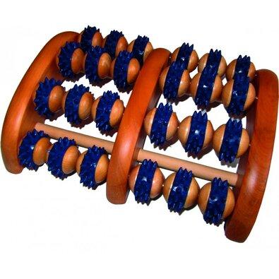 Akupresúrny masážny roler na chodidlá s hrotmi, 23 x 18 cm