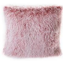 Peluto párnahuzat, fehér-rózsaszín, 40 x 40 cm