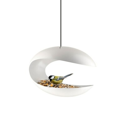 Karmnik dla ptaków wiszący 25 cm, biały