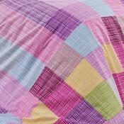 Bavlněné povlečení Karo růžová, 140 x 220 cm, 70 x 90 cm