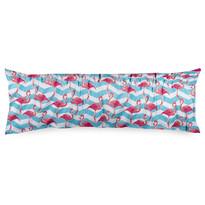 4home Obliečka na Relaxačný vankúš Náhradný manžel Flamingo, 50 x 150 cm
