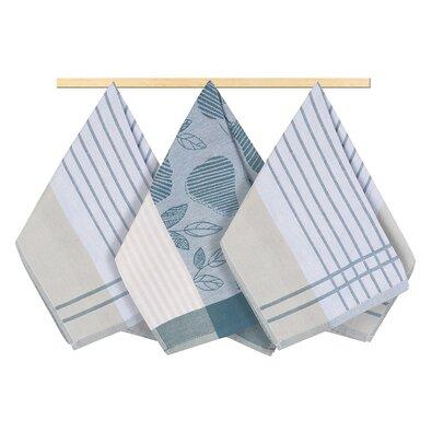 Csíkos konyharuha, szürkéskék, 50 x 70 cm, 3 db-os szett