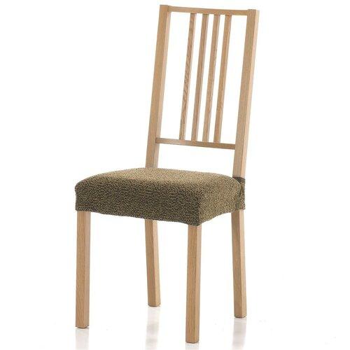 Multielastický potah na sedák na židli Petra gold, 40 - 50 cm, sada 2 ks