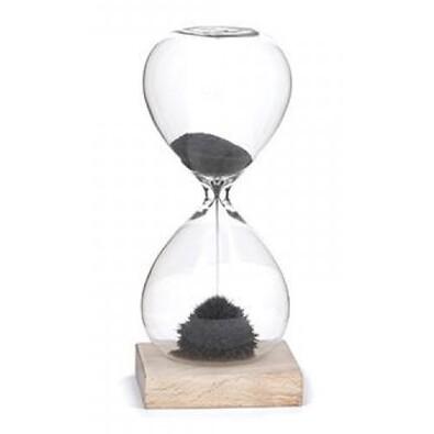 Ceas magnetic cu clepsidră Deluxe, 16,5 cm