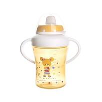 Orion Dětský hrnek s pítkem ANIMAL 300 ml, žlutá