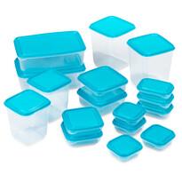 Fedeles műanyagdoboz-készlet, 17-darabos, kék