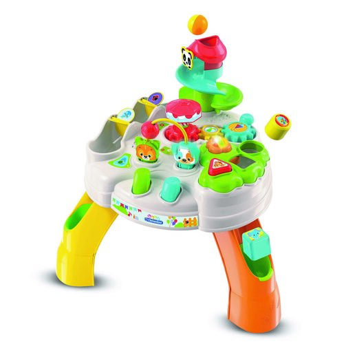 Clementoni Baby Hrací stolík s kockami a zvieratkami
