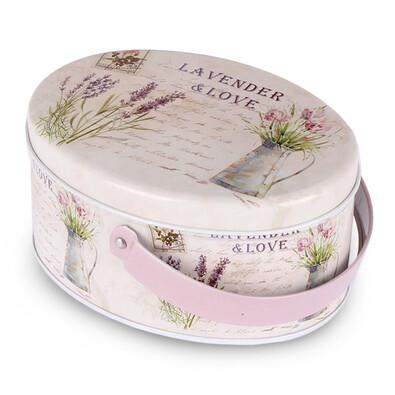 Lavender Plechová dóza s rokojetí