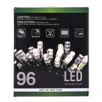 Karácsonyi fényfüzér, fehér, 96 LED-es