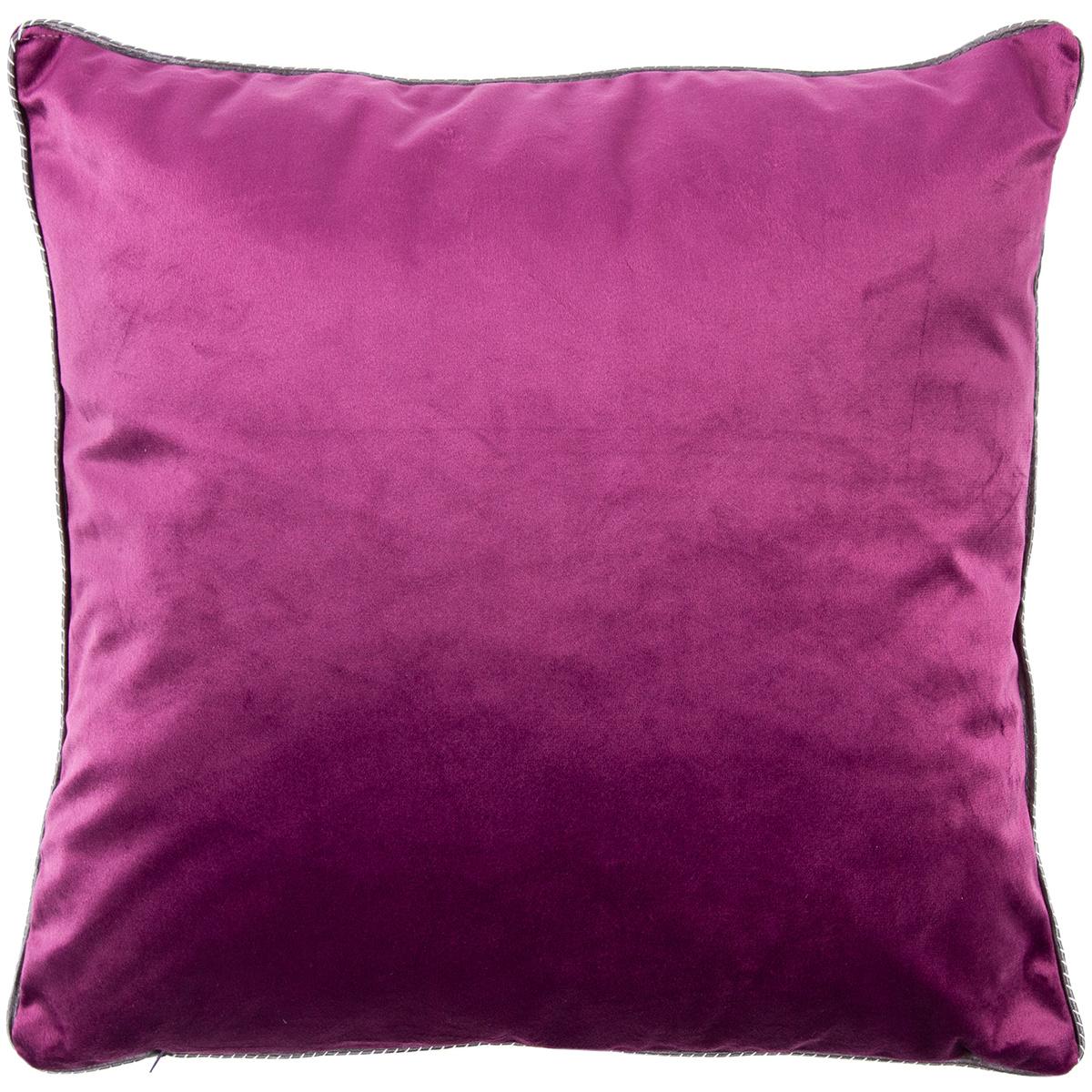 Domarex Polštář Glamour Velvet fialová, 40 x 40 cm