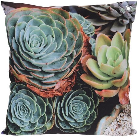 Vankúšik Kaktusy modrá, 45 x 45 cm