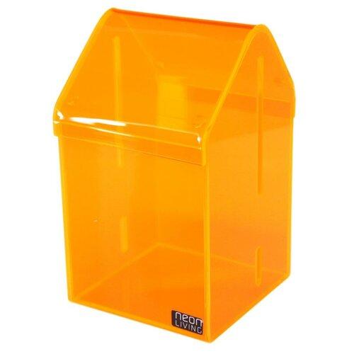 Neon Living Úložný box Dom Tobias 16,5 cm, oranžovej