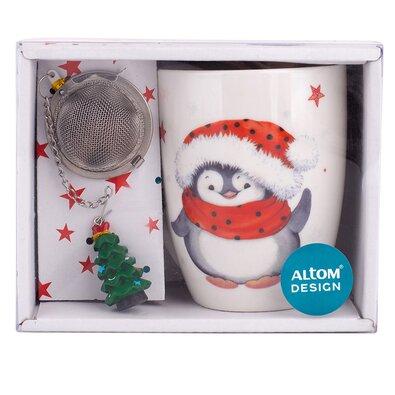 Altom Pingvin ajándékszett bögre szűrővel