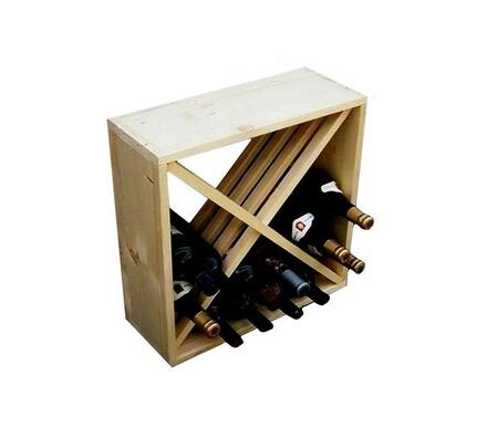 Stojan na víno regálový systém na 24 lahví