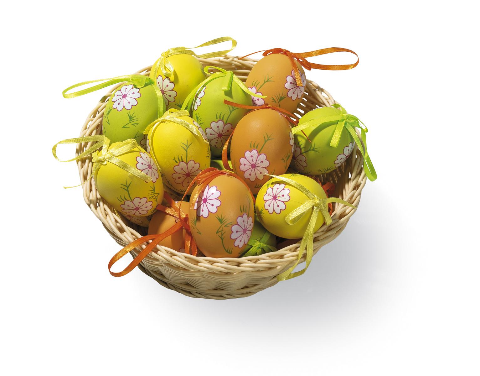 Veľkonočné farevné vajíčka, sada 18 ks