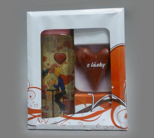 Darčekové balenie sprchového gélu s ručne vyrábaný