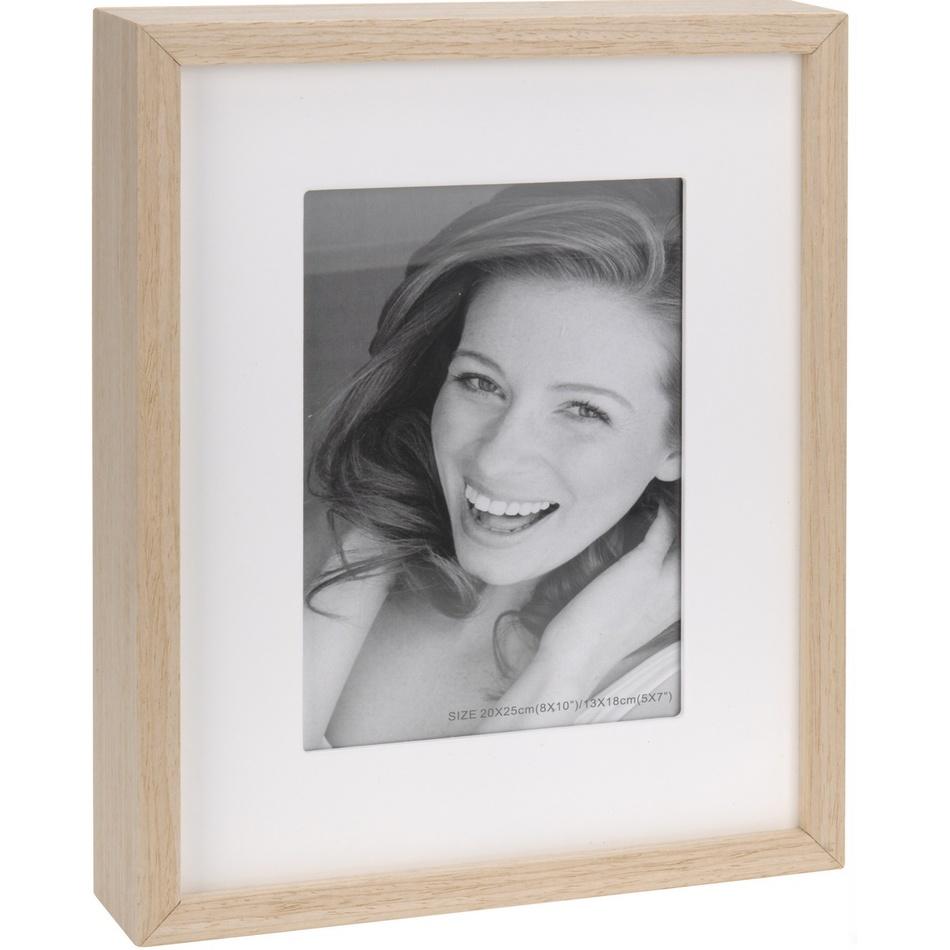 Fotorámeček Wood, bílá + béžová