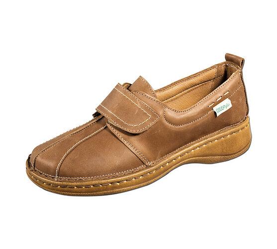 Dámská kožená obuv, hnědá, 37