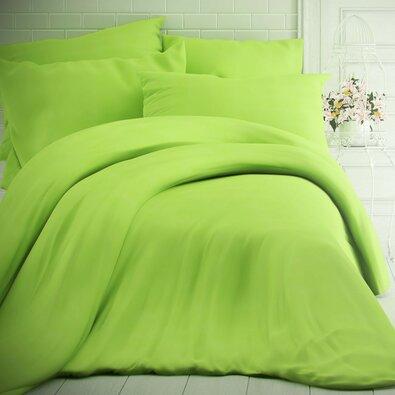 Kvalitex Bavlněné povlečení zelená, 200 x 200 cm, 2 ks 70 x 90 cm