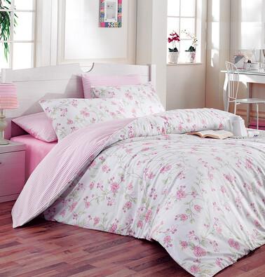 Bavlněné povlečení Ece Pink, 220 x 200 cm, 2 ks 70 x 90 cm