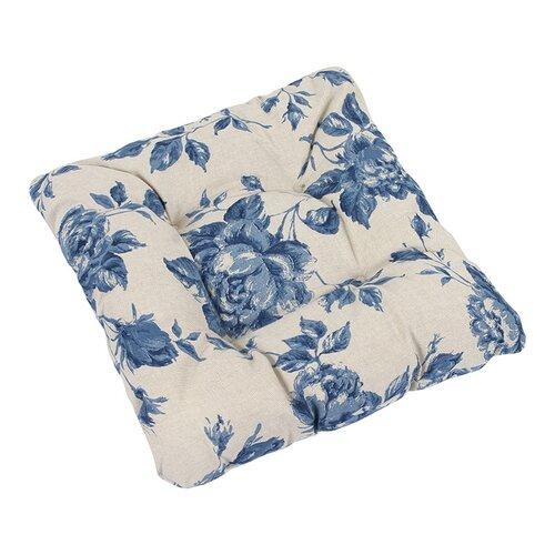 Bellatex Sedák Ivo ruže modrá, 40 x 40 cm, súprava 2 ks