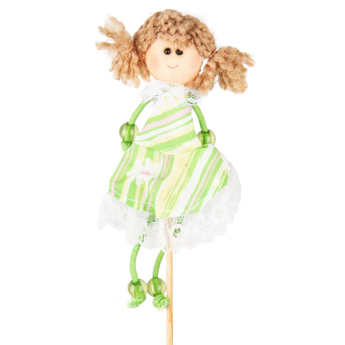 Zápich Panenka zelená, 39 cm