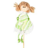 Zápich Bábika zelená, 39 cm