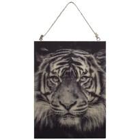 Pictură pe lemn Tigru, 28,5 x 20,5 cm