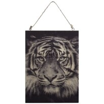 Tigris fafestmény, 28,5 x 20,5 cm