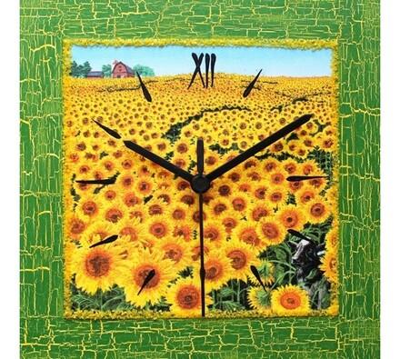 Nástěnné hodiny slunečnicový lán