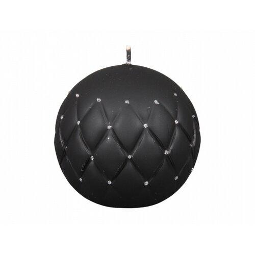 Florencia Dekoratív gyertya gömb, fekete