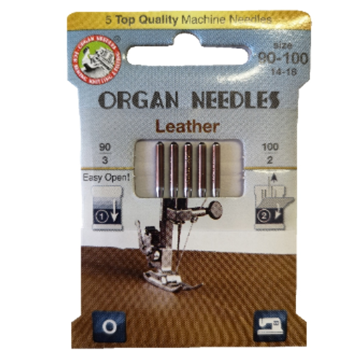 Jehly Organ Needles Leather 90-100