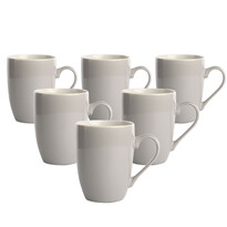 Altom Monokolor porcelán bögre készlet 300 ml, szürke, 6 db