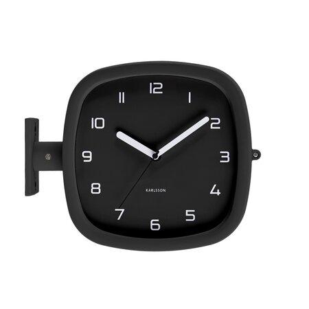 Karlsson KA5831BK Designové oboustranné nástěnné hodiny, 29 cm