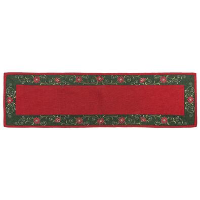 Vánoční ubrus Hvězda červená, 40 x 140 cm