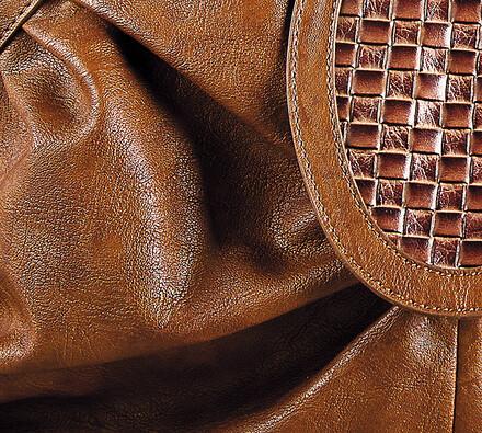 Elegantní dámská kabelka, hnědá