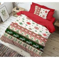 Kvalitex Christmas 3D pamut ágynemű, 140 x 200 cm, 70 x 90 cm