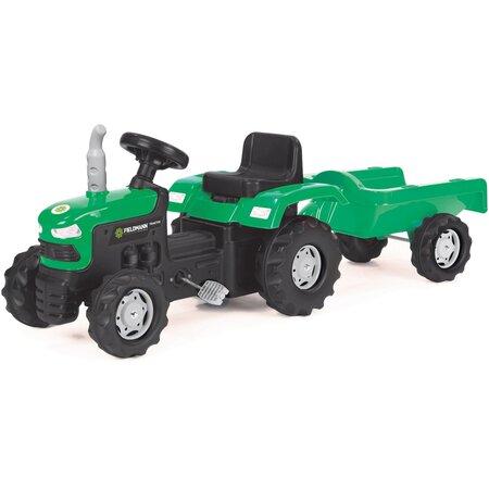 Buddy Toys BPT 1013 Šlapací traktor s vozíkem Fieldmann, zelená