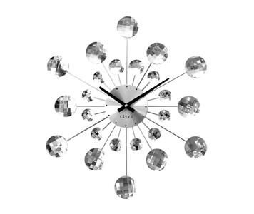 Nástěnné hodiny Lavvu Crystal Sunlight stříbrná