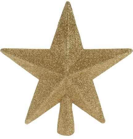 Hvězda na strom zlatá 19 cm