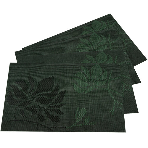 Podkładki Liście ciemnozielony, 30 x 45 cm, komplet 4 szt.