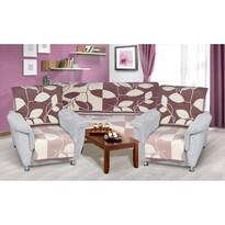Cuverturi pentru canapea și fotolii Karmela plus Primăvară, 1 buc. 150 x 200, 2 buc. 65 x 150 cm