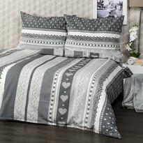 Sanybet Lenjerie de pat creponată Inimă, 140 x 200 cm, 70 x 90 cm